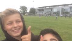 Sep og Andreas, 8.b, Vadgård skole - Det er cool fordi vi støtter vores skole i skolefodbold