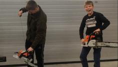 Magnus,Jakob - Det er fed at køre med kædesav
