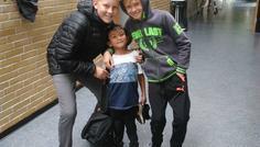 Simon, Emil og Benjamin - Cool at være sammen med de mindre :-)