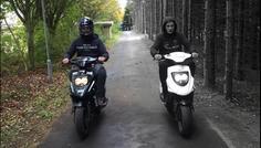 Rasmus, Jesper og Joachim 9.A Møldrup skole - Det er cool at køre med hjelm for ikke at slå hovedet!