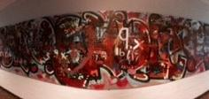 """Daniel & Ida - Vi har valgt dette billede fordi: •Alle der har skrevet på vægen har udtrykt sig selv. På deres egen måde •Det viser også sammenhold, at folk ville være med til at """"skabe kunst"""" det synes vi er cool •Det ser cool ud (mange farver & mønstre)"""