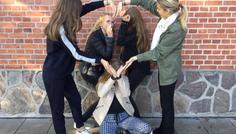 Therese, Caroline, Sophie, Isabella, & Josefine - Vi har valgt dette billede fordi det viser et godt venskab!