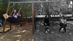 Sophie, Malou og Victoria - Det er cool at se forbi de sorte og hvide rammer.
