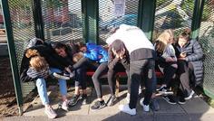 Ea, Samira, Bastian, Emil, Simon, Matei, Isabella, Xenia, Noa, Ida, Caroline - Det er super cool at støtte hinanden...