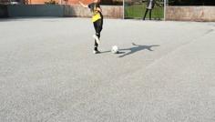 Ruben, Gustav, Jabril og Alex - Det er cool, mår man rammer bolden helt rent med vristen og den suser op i målhjørnet